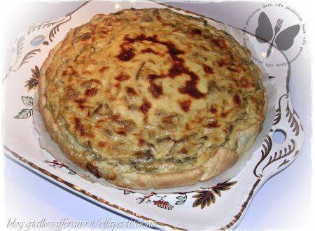 Torta salata ai carciofi, con la mia prima pasta brisé fatta in casa