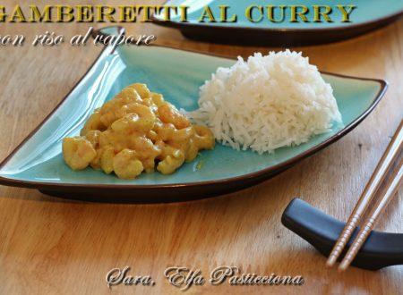 Gamberi al curry con riso al vapore