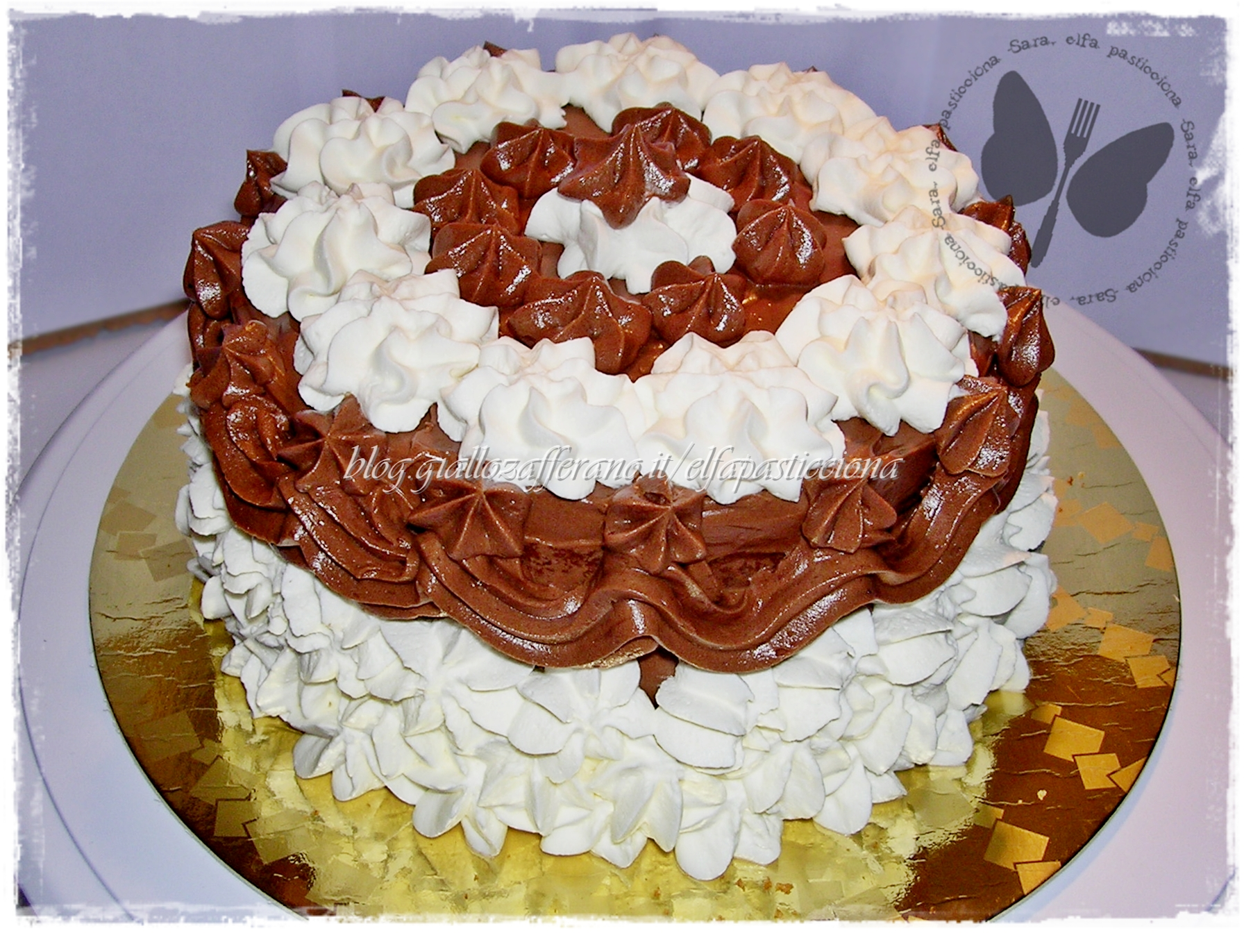 Torta Di Compleanno Panna E Cioccolato Per Mio Suocero