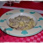 Gnocchetti sardi con salsiccia e funghi cardoncelli
