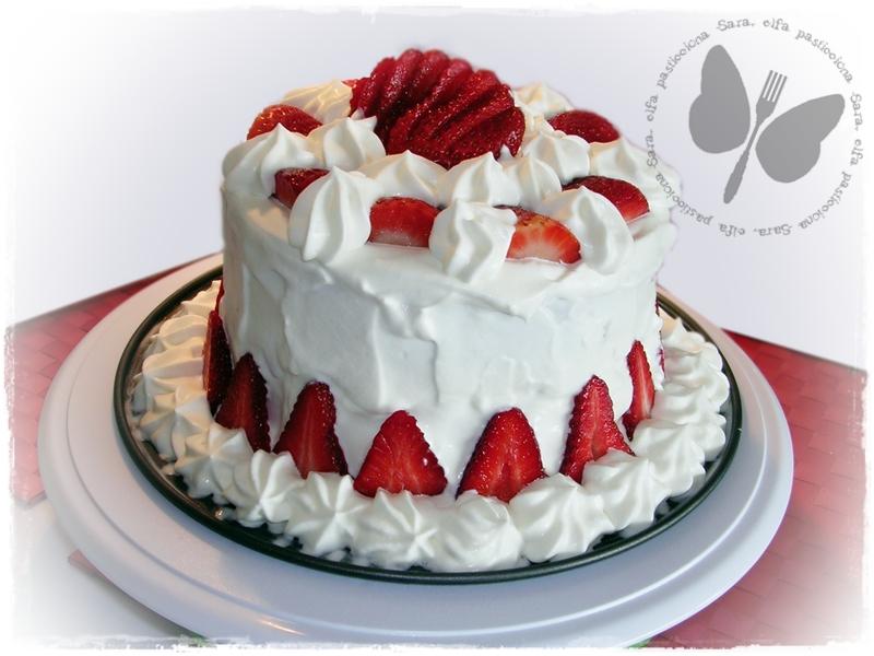 Popolare Torta di fragole e panna per il compleanno della mamma KM98