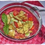 Insalata di pollo speziato, ricetta light