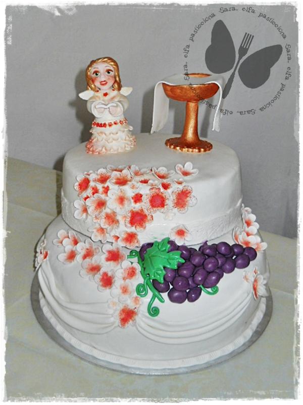 Conosciuto Torta decorata per una prima comunione WU81