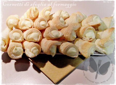 Cornetti di sfoglia al formaggio, ricetta finger food