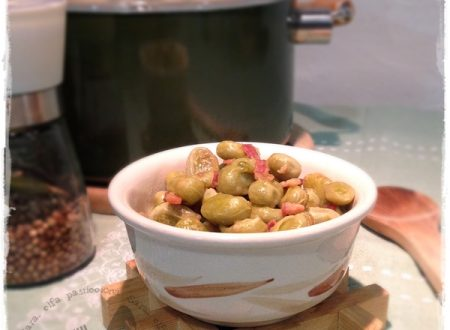 Fave e pancetta, due ricette in una