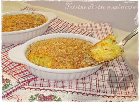 Terrine di riso e salsiccia, ricetta improvvisata