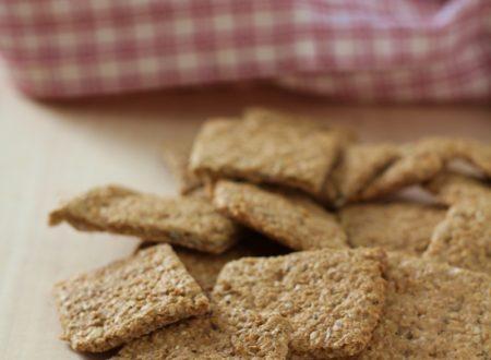 Crackers di crusca d'avena