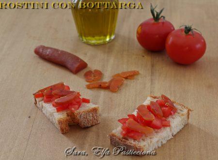 Crostini con pomodorini e bottarga