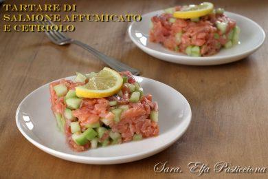 (finta) Tartare di Salmone affumicato e Cetriolo