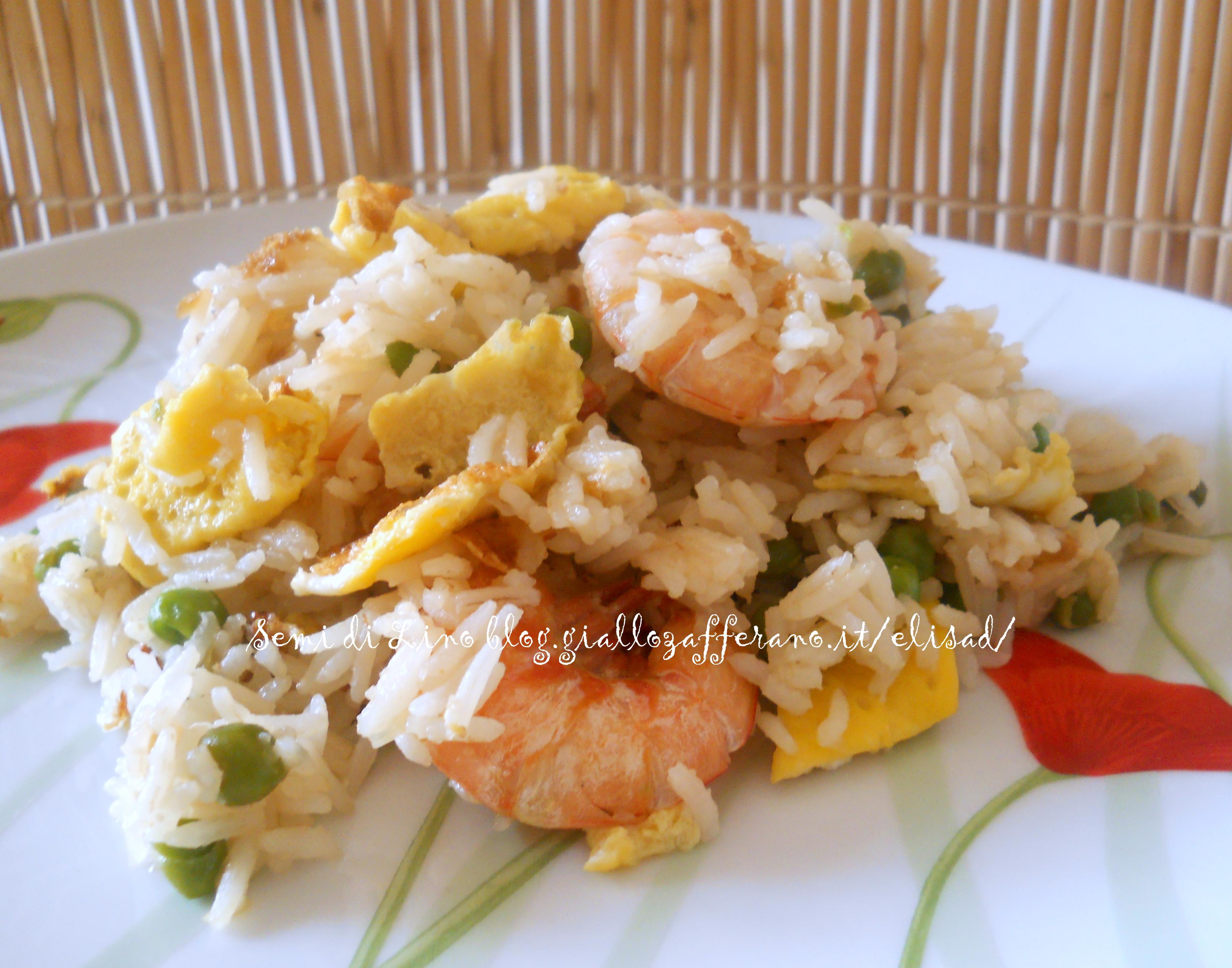 Riso cinese ai gamberi ricetta orientale semi di lino for Menu cinese ricette