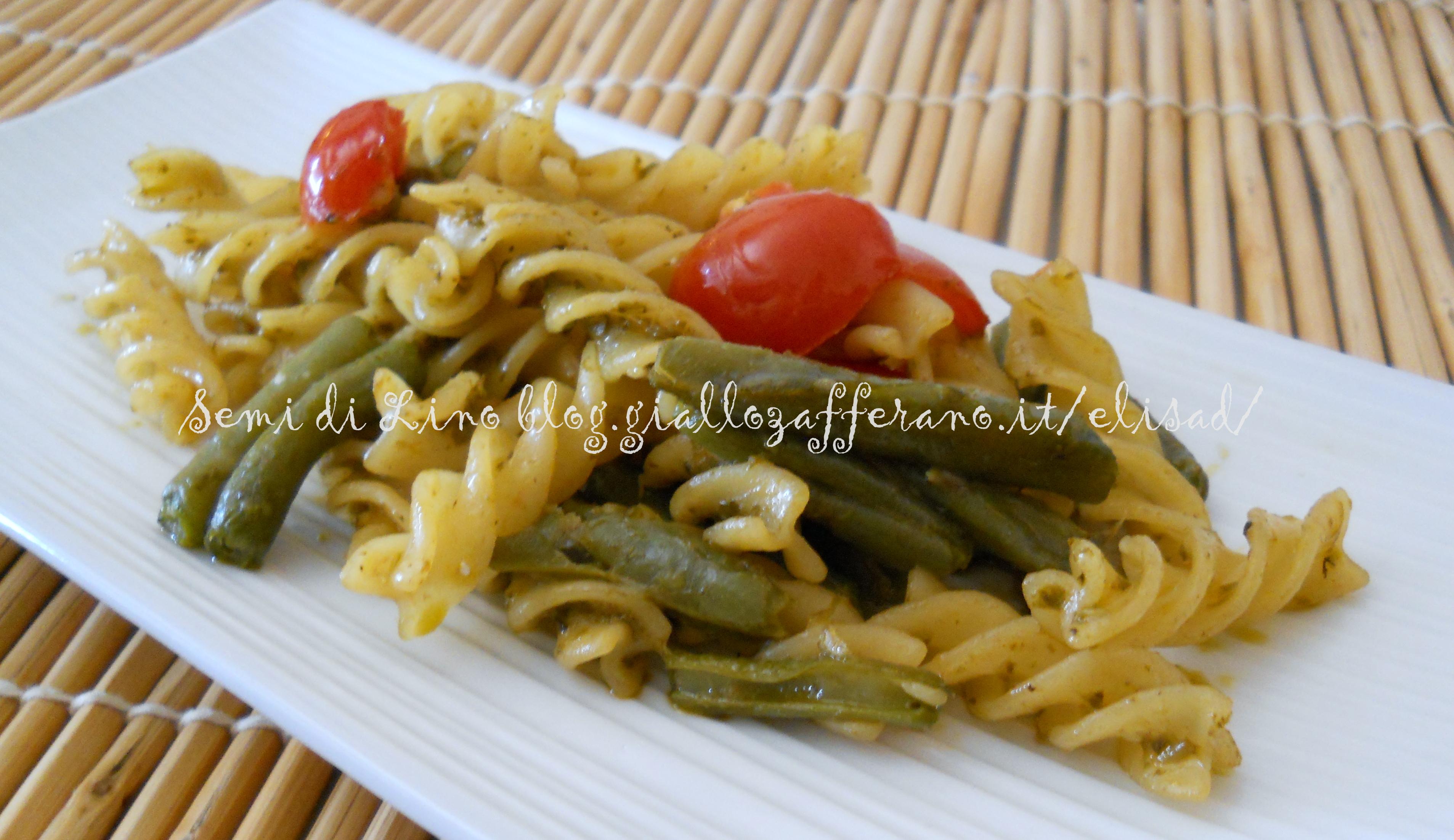 Ricetta pasta con zucchine e fagiolini