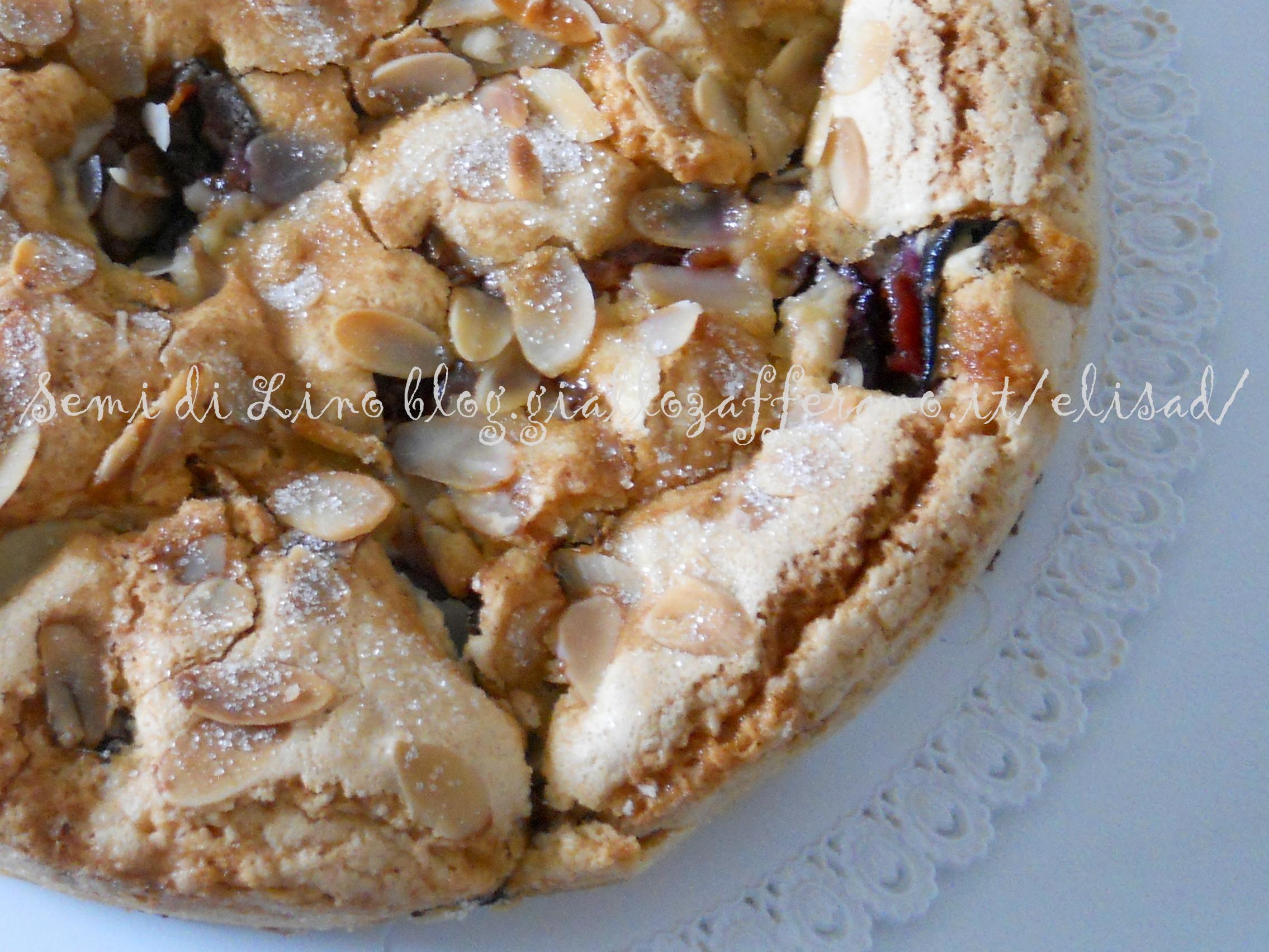 Torta susine e mandorle | Semi di Lino