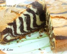 Torta zebrata al cacao: stupefacente!
