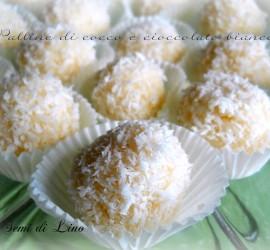 Palline di cocco e cioccolato bianco: ricetta senza forno