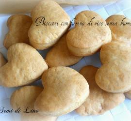 Biscotti con farina di riso senza burro, frolla leggera
