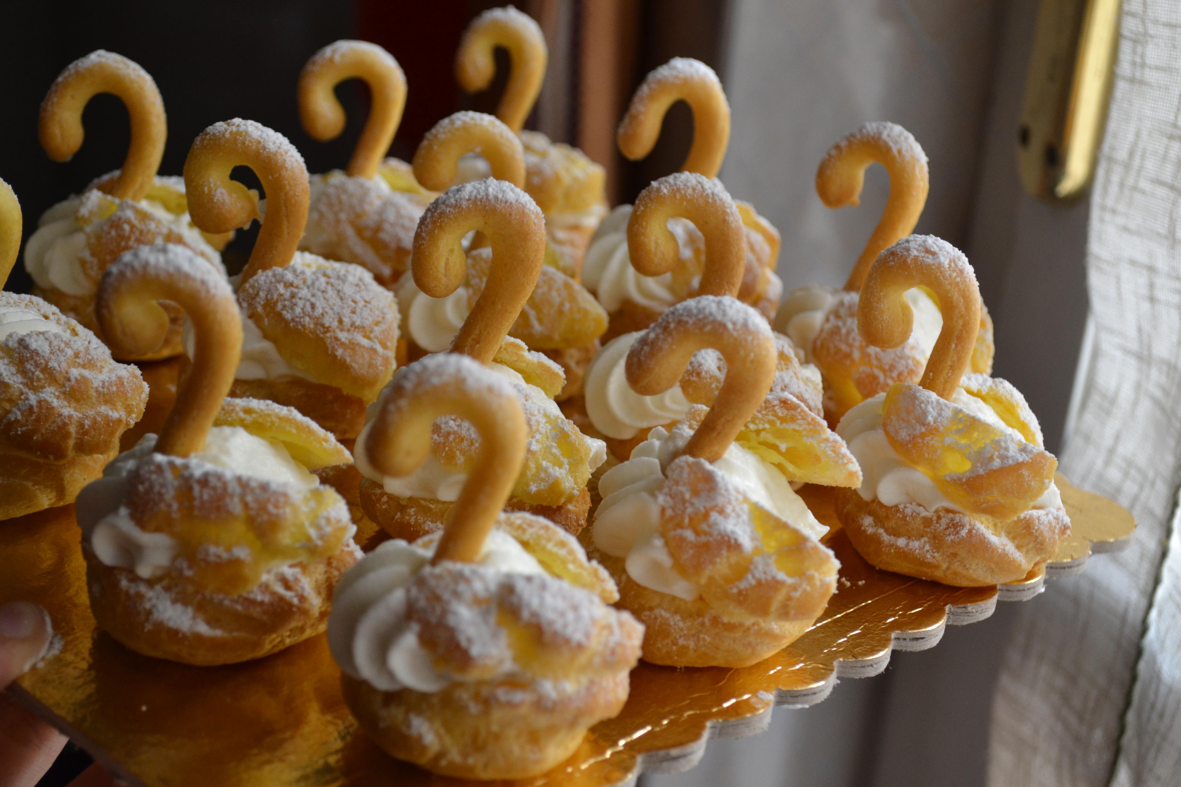 Favorito Cigni panna e crema pasticcera   elisa passione pasticceria OM09