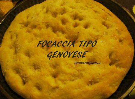 FOCACCIA TIPO GENOVESE