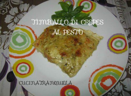 TIMBALLO DI CREPES AL PESTO
