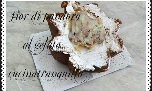 fior di pandoro al gelato