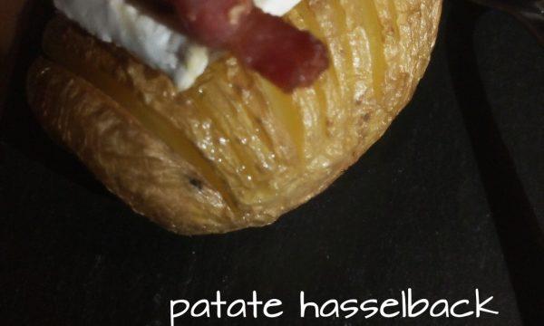 Patate hasselback brie e pancetta