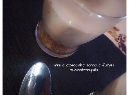 mini cheese cake tonno e funghi