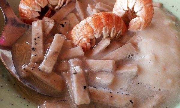 I prodotti del territorio: Sagne bio Di Lullo in crema di cannellini e scampi