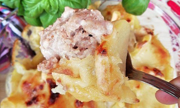 Tortino di polpette e patate