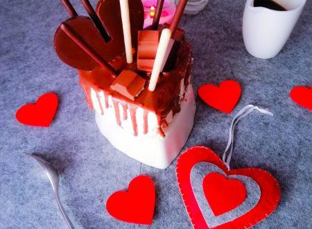 Mini drip cake cuore