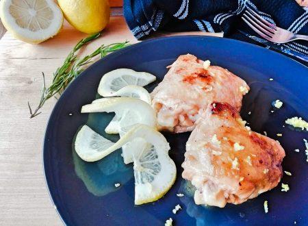 Anchette di pollo al limone