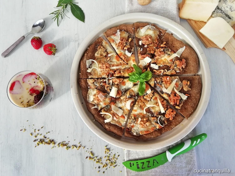 pizza gourmet e panna cotta al formaggio