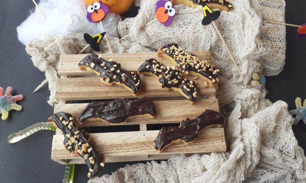 Pipistrelli glassati al cioccolato