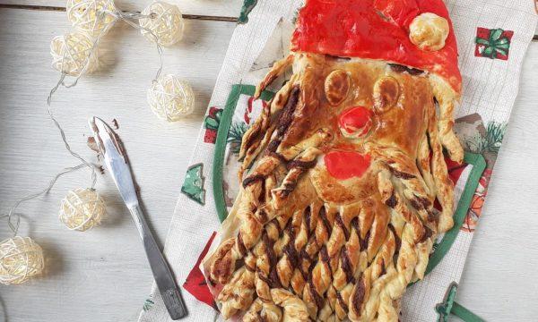 Babbo Natale di pasta sfoglia