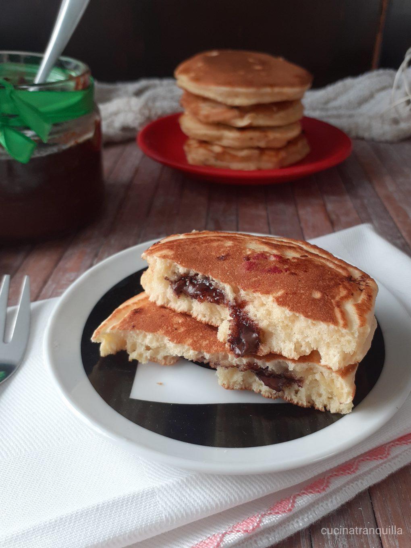 pancake ripieni alla crema