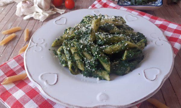Penne in crema di spinaci