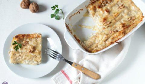 Lasagna con noci e gorgonzola