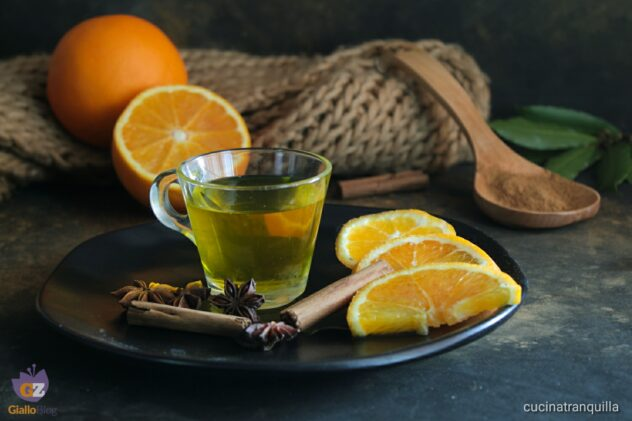 Tisana alle bucce di arance