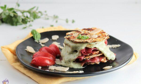 Millefoglie salata con bresaola e crema di stracchino