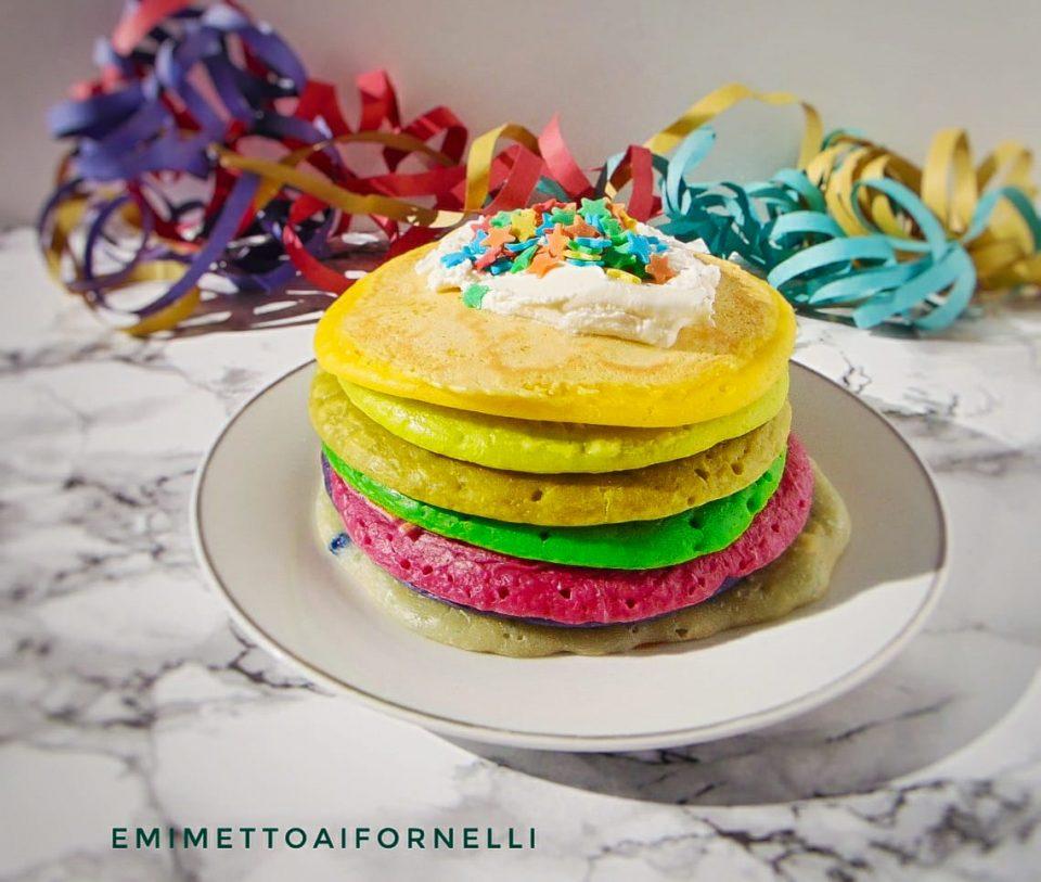 PANCAKES ARCOBALENO (raimbow pancakes)