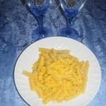 Fusilli al gorgonzola e zafferano – Fusilli with blue cheese and saffron