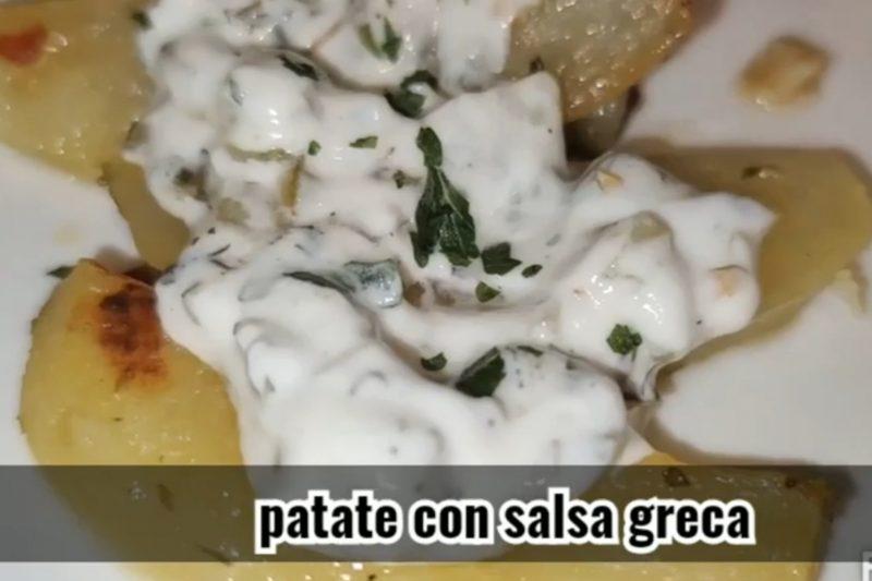 Patate con salsa greca