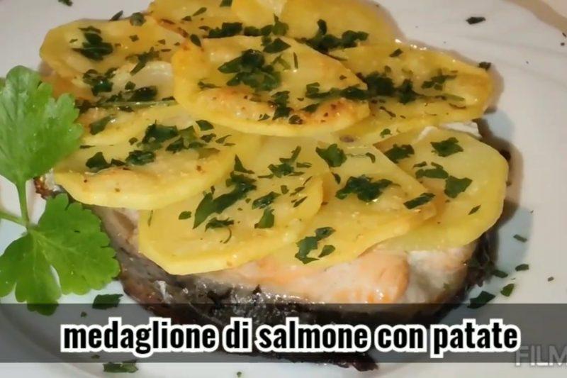 Medaglione di salmone con patate