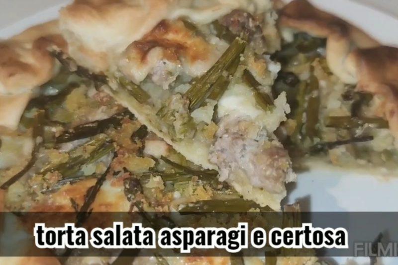 Torta salata asparagi e certosa