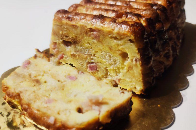 Plumcake salato con pane raffermo