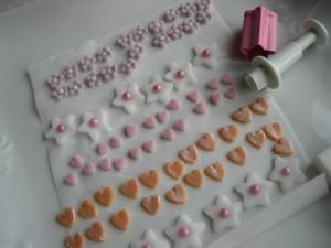 zollette di zucchero decorate