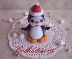 segnaposto in pasta di zucchero a forma di pinguino - Evelindecora blog