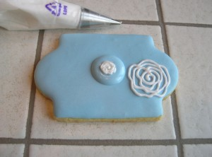 biscotti decorati con rose