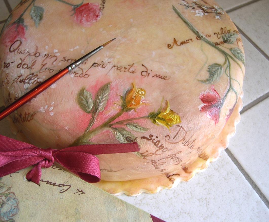 Dipingere pasta di zucchero