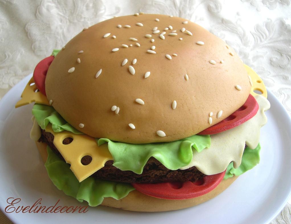 Torta hamburger Evelindecora
