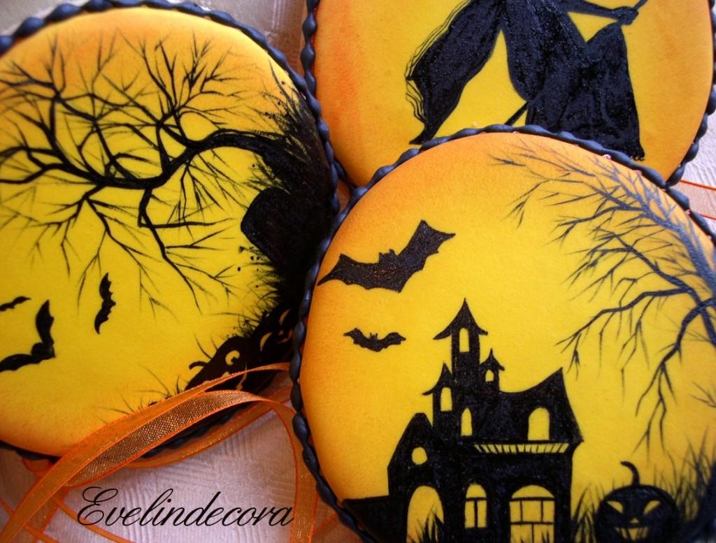 halloween biscotti decorati con ghiaccia reale dipinti a mano Evelindecora