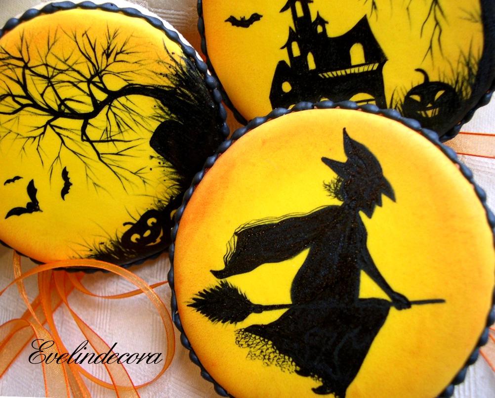 halloween biscotti decorati con ghiaccia reale dipinti a mano Evelindecora halloween biscotti